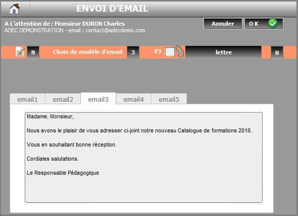 Exemple emailing