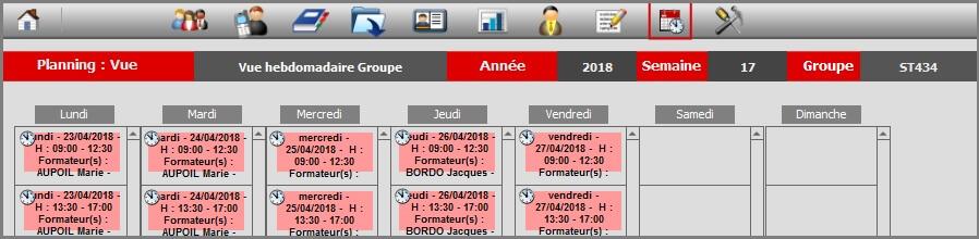 Planning - Vue Hebdo Groupe