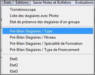 Stagiaire-Liste Modele pre-bilan