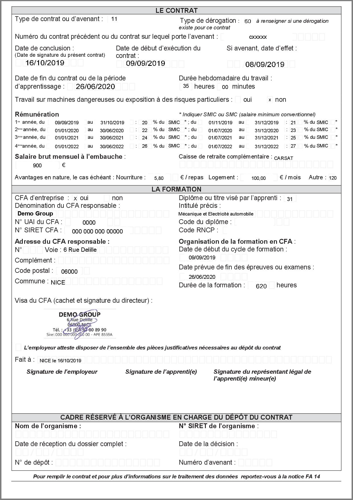 Contrat d'apprentissage version 2021 page 2