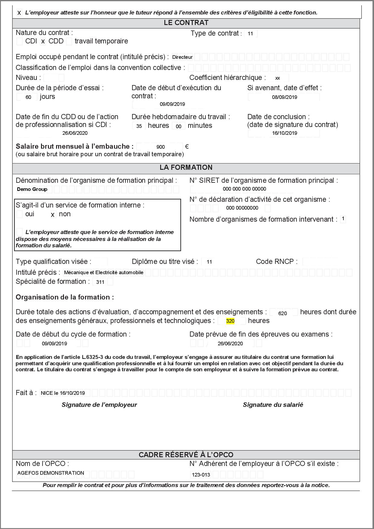 Contrat de professionnalisation version 2021 page 2